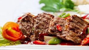 Scharfes Rindfleisch mit Gemüse
